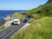 The Eastern Coast Of Northern Ireland And Antrim Coast Road A2, A.k.a Causeway Coastal Route With Ca poster
