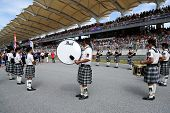 SEPANG - JUNE 10: The St. John's Alumni Pipe Band performances songs using bag-pipes at the 2012 Aut