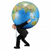 Man Carrying World On His Back