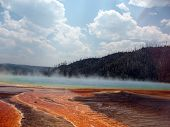 Steam Rising Over Prismatic Spring
