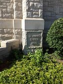 picture of cornerstone  - A Catholic Church Cornerstone showing when it was built in the year 1925 - JPG