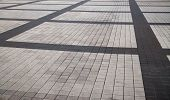 Road Pavement. Pavement Surface. Gray And Black Setts (bricks, Stones, Pavestones, Blocks, Tiles, Cu poster