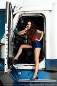 Sexy truck driver