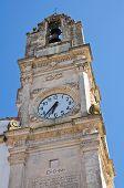 Clocktower. Corigliano d'Otranto. Puglia. Italy.