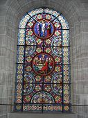 Stained Glass Window Depicting Biblical Scenes