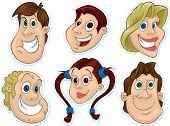 Smiling Face Fridge Magnet/Stickers