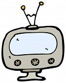 cartoon retro TV