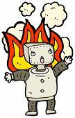cartoon malfunctioning robot