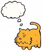 cartoon sick cat