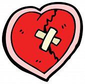 cartoon cracked heart