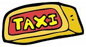cartoon taxi sign
