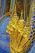 The Golden Nagas at  Wat Phra Kaew
