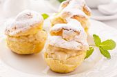 Profiteroles stuffed with pastry cream