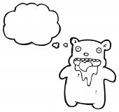 cartoon drooling bear