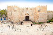 Damascus gate, nord entrance in old part of  Jerusalem, Israel