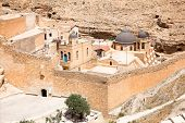Greek Orthodox monastery Great Lavra of St. Sabbas the Sanctified (Mar Saba) in Judean desert. Pales