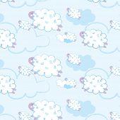 Seamless pattern - sheep
