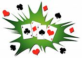 foto of playing card  - Playing cards splash - JPG