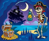 Pirate cove theme image 2 - vector illustration.