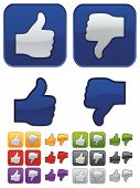 Thumbs Up and Down icons set. Like icon.