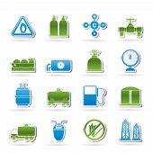 Erdgas-Objekte und Symbole