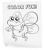 Illustration of a colouring worksheet (germ) - EPS VECTOR format also available in my portfolio.