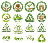 Ecology Icons. Symbols Of Nature Conservation And Environmental Protection. Reduce, Reuse And Recycl poster