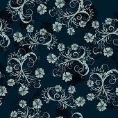 Floral fondo transparente