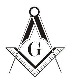 foto of freemasons  - black and white freemason symbol illustration on white background - JPG
