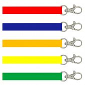 illustration of different lanyards