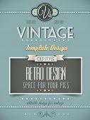 Vintage retro Seitenvorlage für vielfältige Zwecke: Webseite, Homepage, alten Stil Flyer buchen Cov