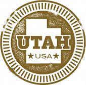 Vintage Utah USA State Stamp
