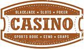 Vintage Style Vegas Casino Stamp