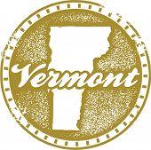 Vintage Vermont USA State Stamp