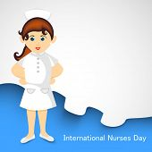 stock photo of rn  - International nurse day concept with illustration of a nurse - JPG