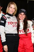 LOS ANGELES - MAR 23:  Jenna Elfman, Kate del Castillo at the 37th Annual Toyota Pro/Celebrity Race