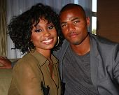 LOS ANGELES - FEB 27:  Angell Conwell, Redaric Williams at the Hot New Faces of the Young and the Re