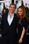 LOS ANGELES - MAR 28:  Ray Stevenson, Elisabetta Caraccia arrives at the