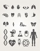 Medical icons set with graphic elements