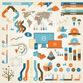 foto of earth  - Infographic Elements and Communication Concept - JPG