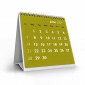 Calendário de 2009. Junho de