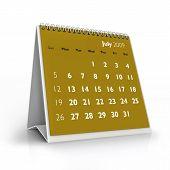 Calendário de 2009. Julho de