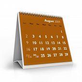 Calendário de 2009. Agosto