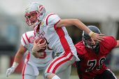 VIENNA, AUSTRIA - JUNE 9: QB Alexander Thury (#7 Austria) runs with the ball on June 9, 2012 in Vien