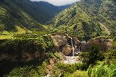 stock photo of ravines  - Landscape with waterfall - JPG