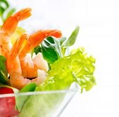 stock photo of cocktail menu  - Prawn salad - JPG