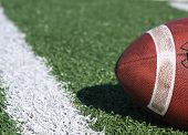 Football Near The Yardline With Room For Copy