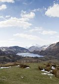 Lake in Snowdonia with views of Mount Snowdon