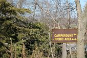 Campground Picnic Area Sign