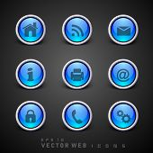 Set of 3D web 2.0 icons for web applications, Internet & website icons and social networking icons o